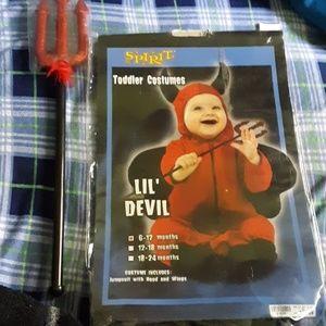 Boys lil' devil costume